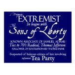 Poster del siglo XVIII extremista peligroso del es Postal