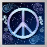 Poster del signo de la paz