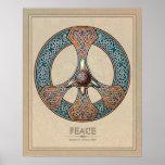 Poster del signo de la paz de Knotwork del Celtic