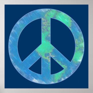 Poster del signo de la paz de la tierra