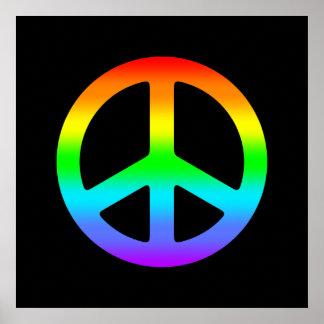 Poster del signo de la paz del arco iris
