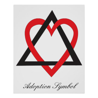 Poster del símbolo de la adopción