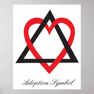 Poster del símbolo de la adopción póster