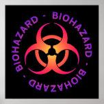 Poster del símbolo del Biohazard