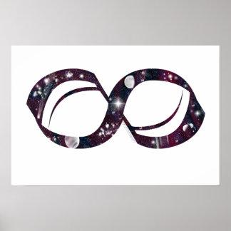 Poster del símbolo del infinito