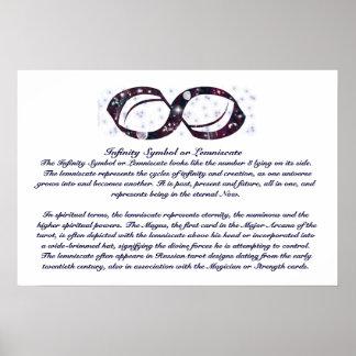 Poster del símbolo Info del infinito Póster