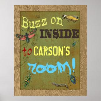 Poster del sitio de la caza del insecto