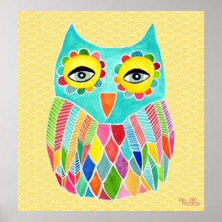 Poster del sitio de los chicas del arte del búho d
