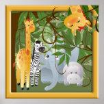 Poster del sitio de los niños de los animales del