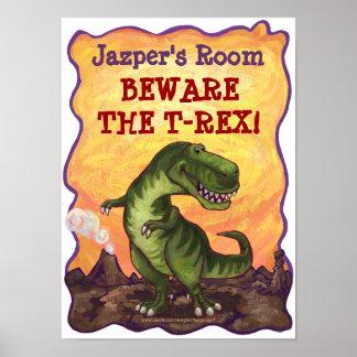 Poster del sitio de Rex del Tyrannosaurus