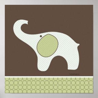 Poster del sitio del elefante del bebé