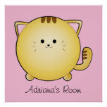 Poster del sitio del gato del dibujo animado de Ka