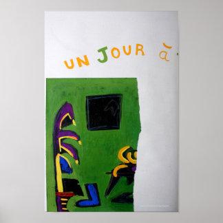 Poster del sitio del verde del libro del artista