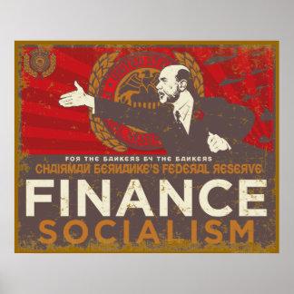 Poster del socialismo de las finanzas de Bernanke