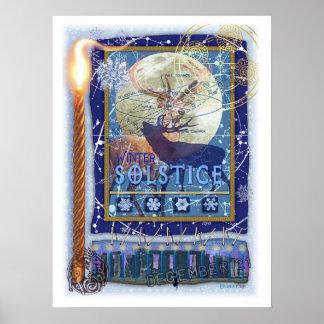 Poster del solsticio de invierno póster