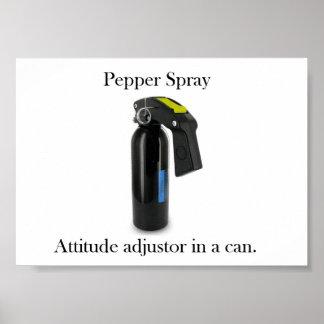 Poster del spray de pimienta