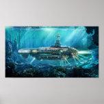 Poster del submarino de Steampunk