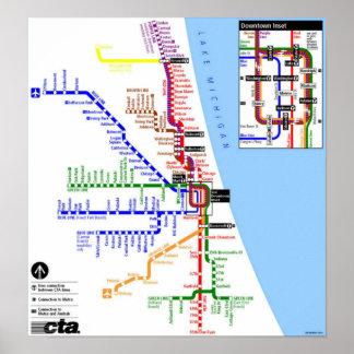 Poster del subterráneo de Chicago