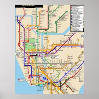 Poster del subterráneo de Newyork