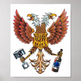 poster del sudor de la sangre y del águila de las