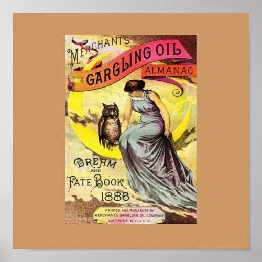 Poster del sueño del almanaque del aceite de Gargl