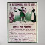Poster del sufragio de las mujeres