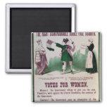 Poster del sufragio de las mujeres imán para frigorífico