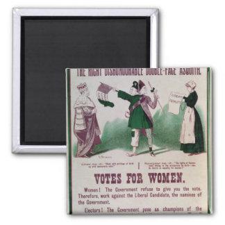 Poster del sufragio de las mujeres imán cuadrado