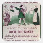 Poster del sufragio de las mujeres calcomanía cuadrada personalizada