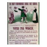 Poster del sufragio de las mujeres postal