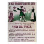 Poster del sufragio de las mujeres tarjetas