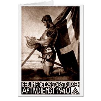 Poster del suizo de WWII Tarjetón