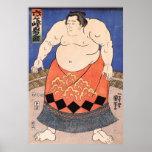 Poster del sumo del vintage