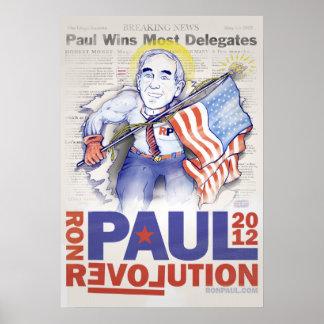 Poster del superhéroe de Ron Paul