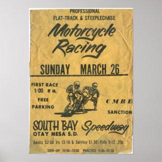 poster del sur de la raza del carretera de la bahí