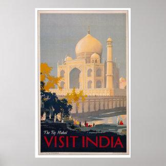 Poster del Taj Mahal - la India de la visita