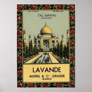 Poster del Taj Mahal Lavande