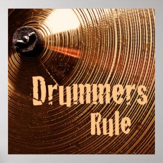 Poster del tambor que marcha o del batería póster