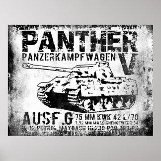 Poster del tanque de la pantera póster