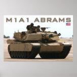 Poster del tanque de M1A1 Abrams