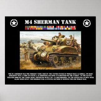 Poster del tanque de M-4 Sherman