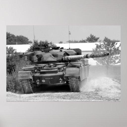 Poster del tanque del cacique de B/W