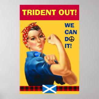 Poster del tartán hacia fuera William Wallace del