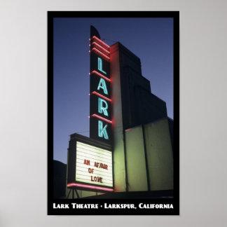 Poster del teatro 11x17 de la alondra