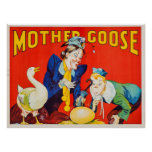 Poster del teatro de la mamá ganso del vintage