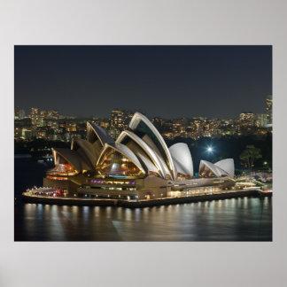 Poster del teatro de la ópera de Sydney