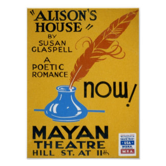 Poster del teatro de WPA del vintage de la casa de