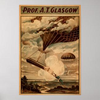 Poster del teatro del circo del globo del aire cal