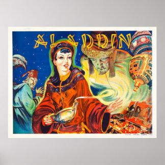 Poster del teatro del vintage - Aladdin