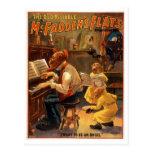Poster del teatro del vintage de los planos de McF Postales